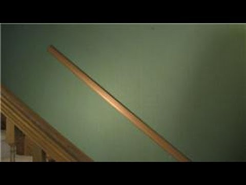 Trim U0026 Molding : How To Install A Chair Rail Going Up The Stairs   YouTube
