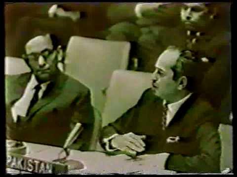 Zulfiqar Ali Bhutto Speaks United Nations on Kashmir