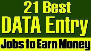 Best Data Entry Jobs | 21 Data Entry Job categories to earn money online