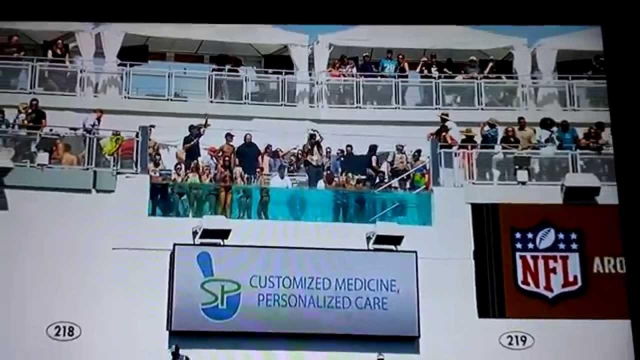 Jacksonville jaguars stadium pools 2014 shad khan youtube - Jacksonville jaguars swimming pool ...