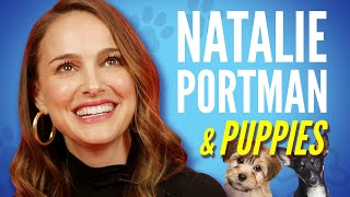Natalie Portman Plays With Puppies While Answering Fan Questions
