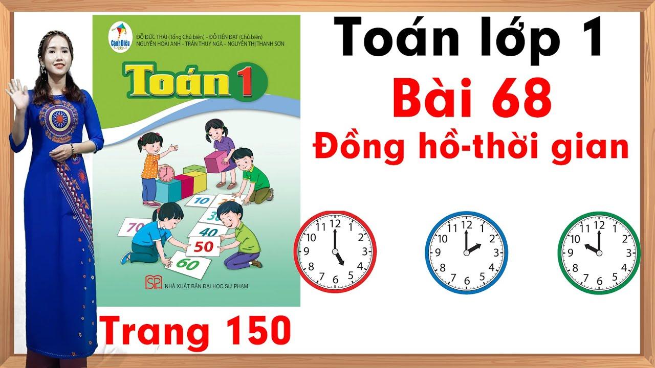 Học toán lớp 1| Toán cộng lớp 1 |Toán lớp 1 sách cánh diều bài 68 |Đồng hồ thời gian