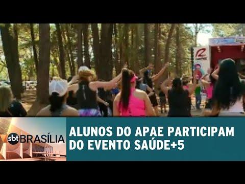 Alunos da APAE participam do evento Saúde+5 no Parque da Cidade | SBT Brasília 13/08