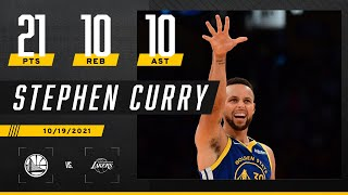 Steph Curry posts 8th CAREER triple-double in season-opening W vs. Lakers 🍿