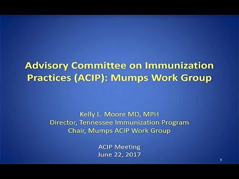 June 2017 ACIP Meeting - Mumps ; Meningococcal, VAERS, Evidence Based Recommendations