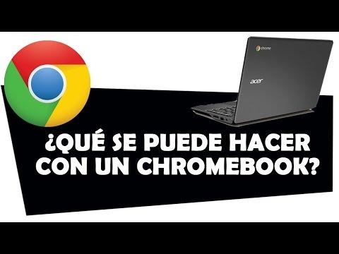 Qué se puede hacer con un Chromebook