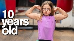 10-Year-Old Gymnast vs Sports Dad Strength Challenge