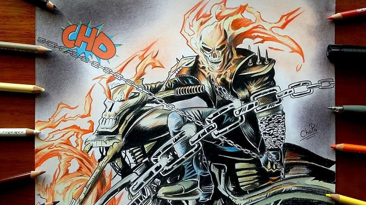 Dibujando A Ghost Rider El Vengador Fantasma Drawing Ghost Rider
