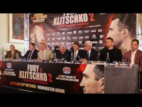 TYSON FURY v WLADIMIR KLITSCHKO 2 - FULL & UNCUT LONDON PRESS CONFERENCE / FURY v KLITSCHKO 2