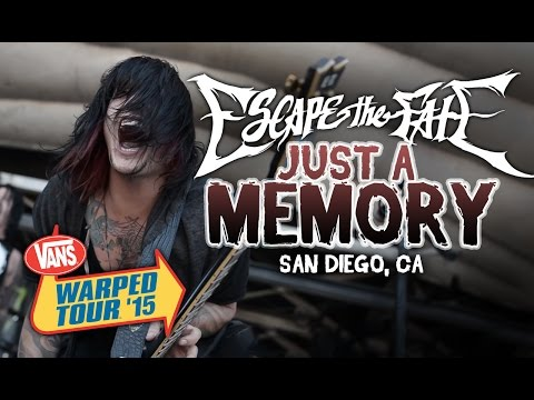 "Escape The Fate - ""Just A Memory"" **NEW SONG** LIVE! Vans Warped Tour 2015"