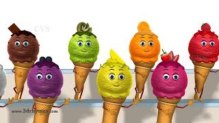 Ice Cream Song for Kids | Learn Colors with Ice Cream for Children | Baby Nursery Rhymes