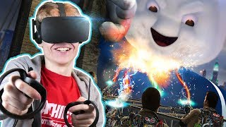 CATCHING GHOSTS IN VIRTUAL REALITY | Ghostbusters VR Experience (Oculus Rift + Haptic Suit Gameplay)