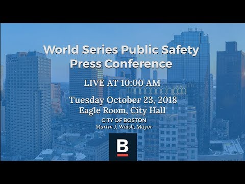 World Series Public Safety Press Conference