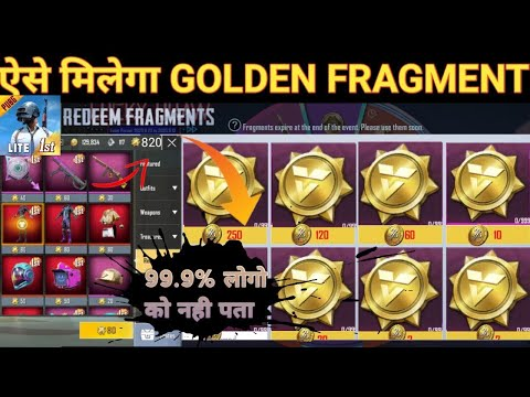 Pubg Lite Golden Coin Live Purchasing |Pubg Lite me golden Fragment coin kaise le | pubg lite gold