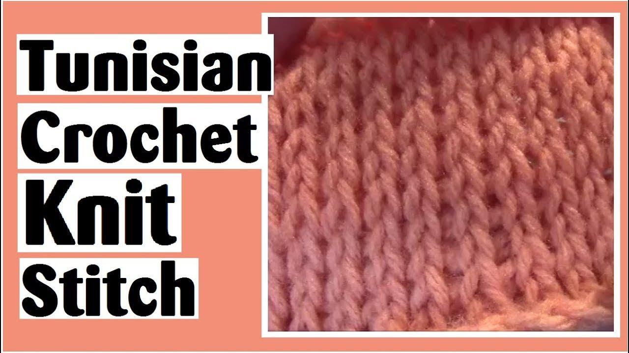 Tunisian Crochet Knit Stitch - Learn How to Crochet with Darlene ...