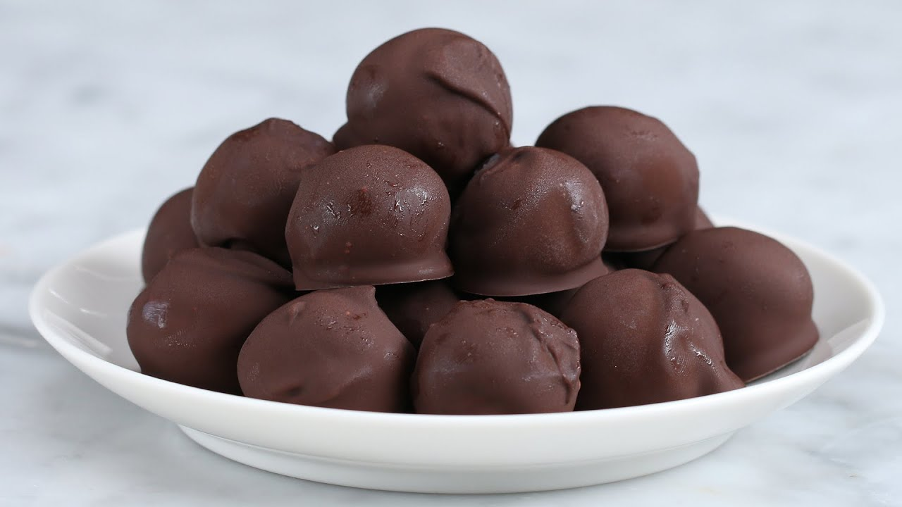 Dark Chocolate Peanut Butter Ball Recipe Created by Tasty