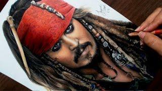 Desenhando o Jack Sparrow | Piratas do Caribe