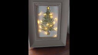 Light Up Gift Bag Frame Christmas