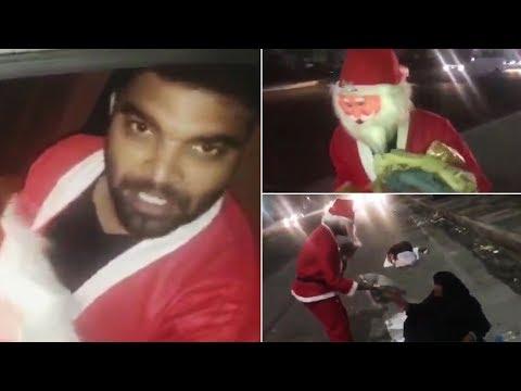 Anchor Pradeep Machiraju Helps Vagrants As Santa Claus | Pradeep Machiraju Kind Heart | Manastars