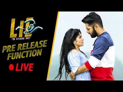 #LIE Movie Pre Release Event LIVE - Nithiin, Arjun, Megha Akash   Hanu Raghavapudi