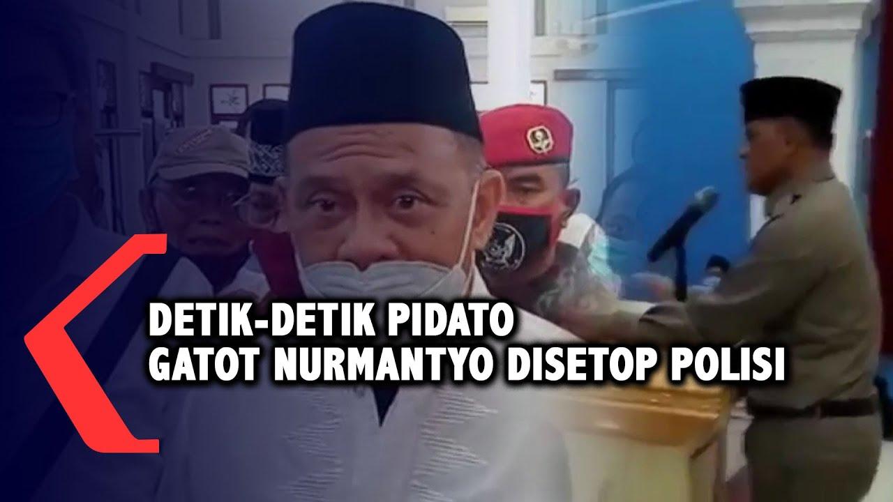 Download Detik-detik Gatot Nurmantyo Disetop Polisi saat Pidato di Surabaya