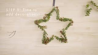 How To Decorate Your Christmas Star Wreath