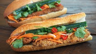 Sandwich Vietnamien - Banh Mi au Poulet Pané - Cooking With Morgane