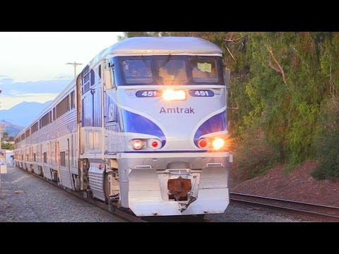 Thumbnail: LONG AMTRAK SURFLINER TRAINS