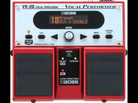 boss ve 20 pedal original song autotuned and voice layered 3rd and