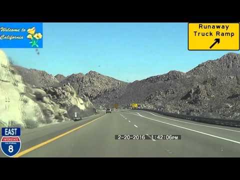 San Diego CA to Casa Grande AZ Interstate 8 2016 HD