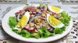 Салат с тунцом | Салат за 10 минут | Рецепт салата с тунцом