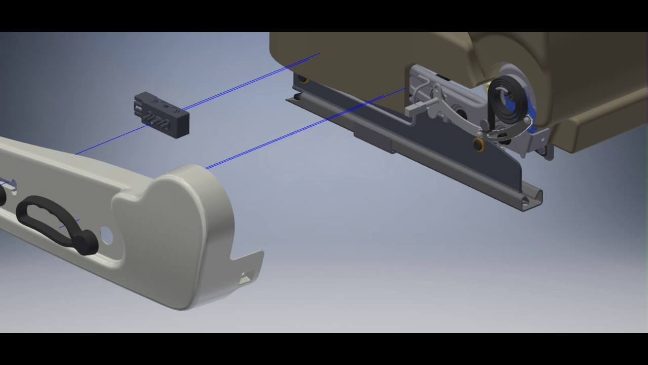 Assembly Car Seat Handle Release Mechanism