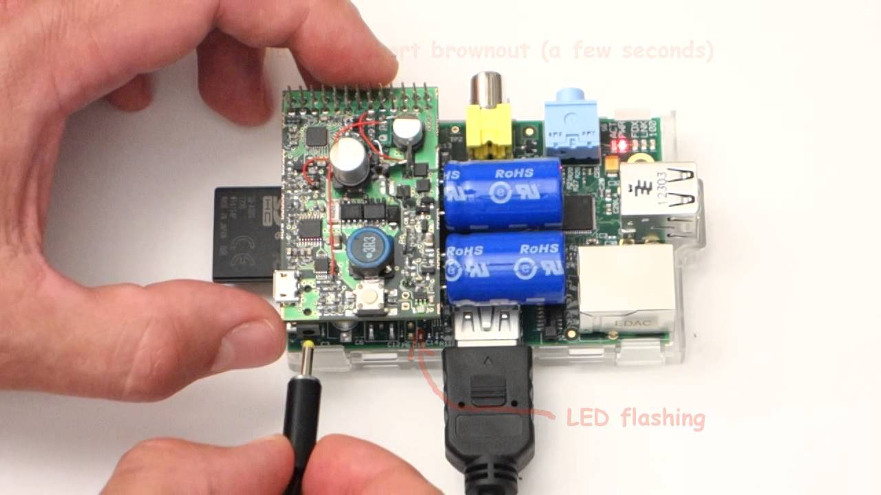 The Supercapacitor Ups For Raspberry Pi Youtube First I Connected 1 Supercap And Led Resistor Into Circuit