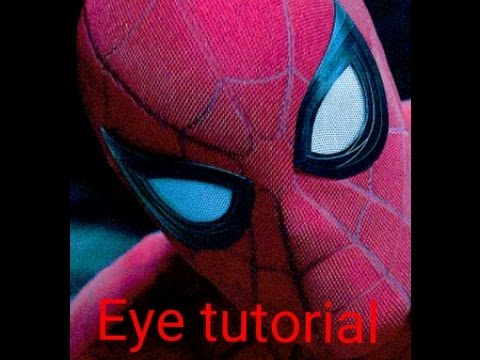 how to draw spiderman eyes