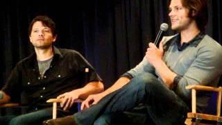 Jensen's latest prank on Jared and Jared plays with Sebastian- NJCON 2011