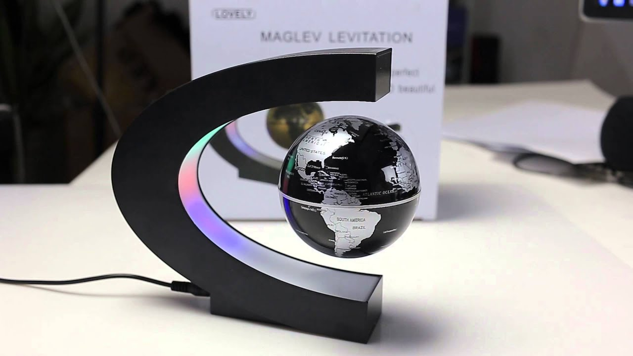 C shape magnetic levitation floating globe world map from gearbest c shape magnetic levitation floating globe world map from gearbest youtube gumiabroncs Choice Image