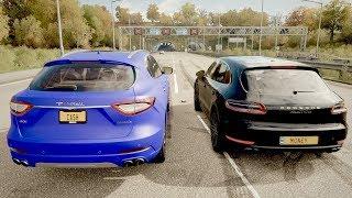 Race 3: Maserati Levante S vs Porsche Macan Turbo - Top Speed Drag Race - Forza Horizon 4