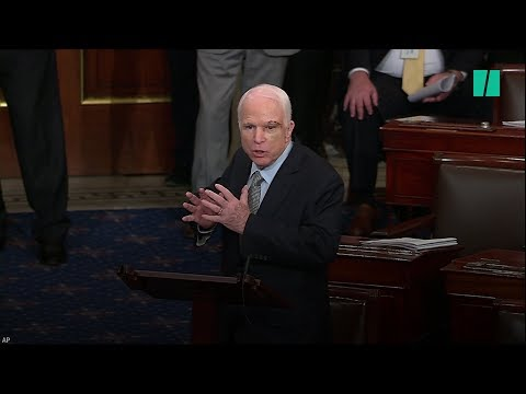 Watch The Moment John McCain Votes Against The GOP