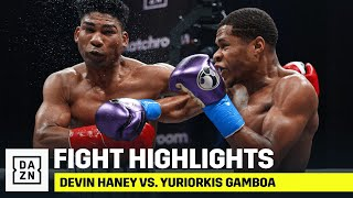 HIGHLIGHTS | Devin Haney vs. Yuriorkis Gamboa