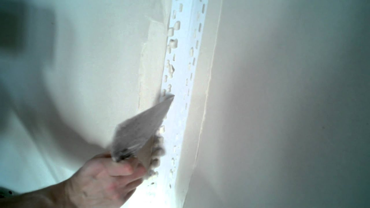 Inside Corner Bead Drywall : Installing inside corner bead youtube