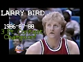 Larry Bird's Legendary 1986-87-88 3 Point Contest Champion Highlights (All Final Rounds)