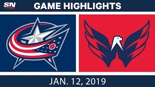 NHL Highlights   Blue Jackets vs. Capitals - Jan. 12, 2019