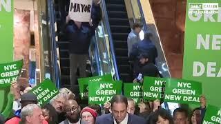 Escalator Protesters Troll De Blasio