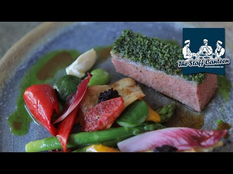 Lamb With Herb Crust, Summer Vegetable And Olive Tapenade Potato Recipe