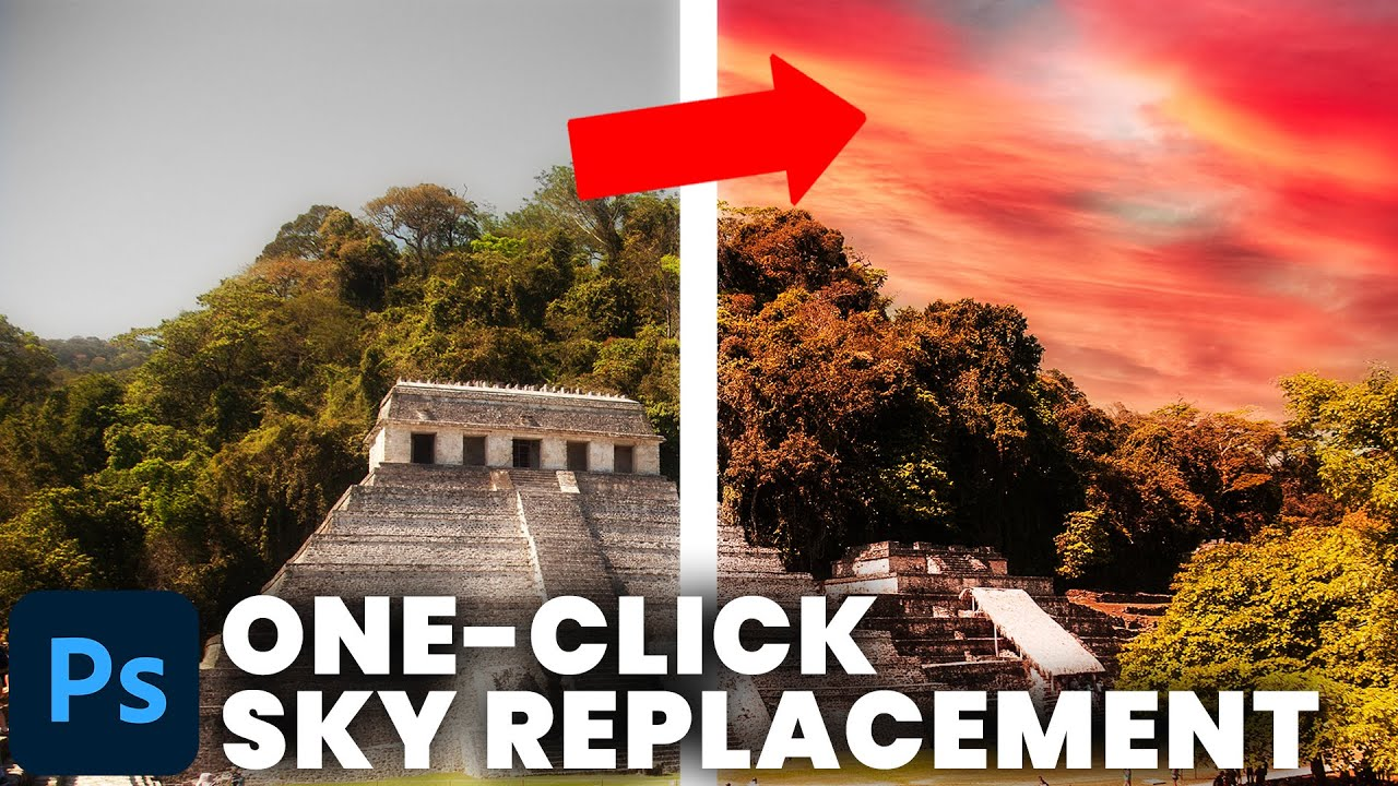 ONE-CLICK Sky Replacement Tool (Photoshop CC 2021 Tutorial)