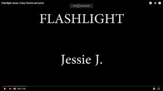 Flashlight  Jesse J Easy Chords and Lyrics