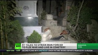 Living among the dead: Syrian man takes refuge in cemetery to escape violence