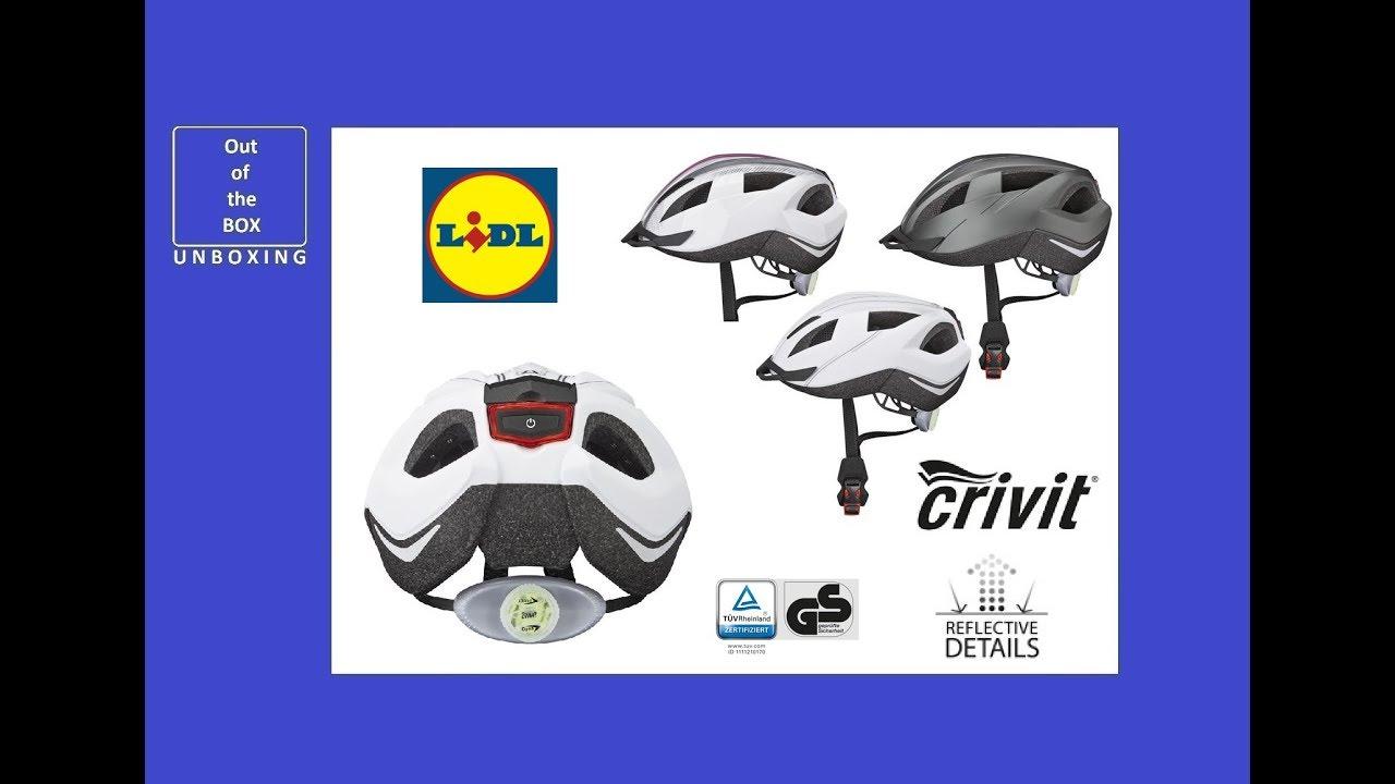 crivit bicycle helmet sp 91 led rear light sp 06 unboxing lidl women 39 s men 39 s cycling helmet. Black Bedroom Furniture Sets. Home Design Ideas