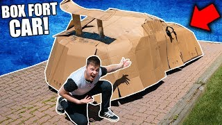 BOX FORT BOAT SURVIVAL CHALLENGE!