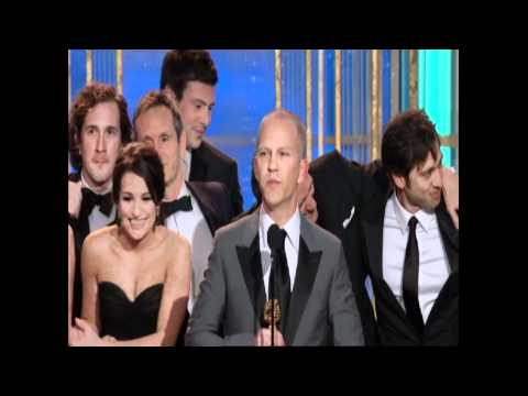 Glee Wins Best TV Series Musical Or Comedy - Golden Globes 2010